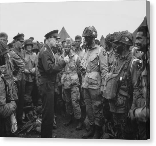 U. S. Presidents Canvas Print - General Eisenhower On D-day  by War Is Hell Store