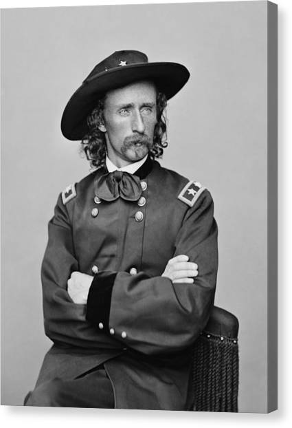 Last Canvas Print - General George Armstrong Custer by War Is Hell Store