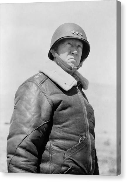 World War Two Canvas Print - General George S. Patton by War Is Hell Store