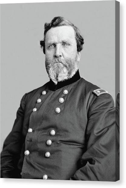 Us Civil War Canvas Print - General George Thomas by War Is Hell Store