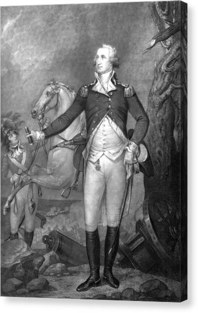War Horse Canvas Print - General George Washington At Trenton by War Is Hell Store