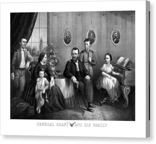 U. S. Presidents Canvas Print - General Grant And His Family by War Is Hell Store