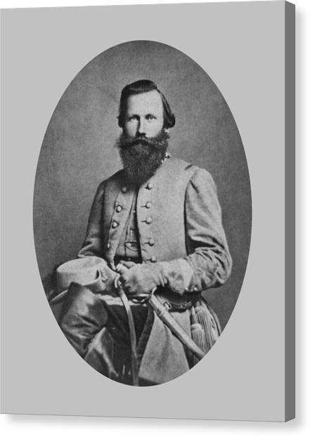Confederate Army Canvas Print - General J.e.b. Stuart - Confederate Army General by War Is Hell Store