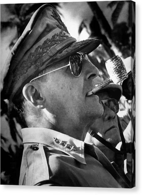 Korean Canvas Print - General Macarthur by War Is Hell Store