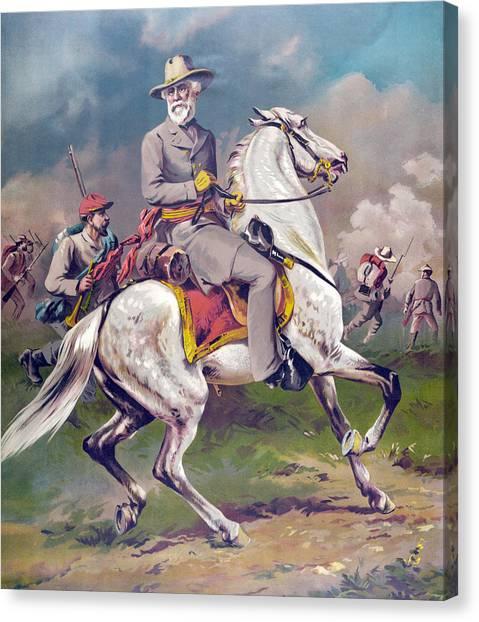 War Horse Canvas Print - General Robert E Lee by American School