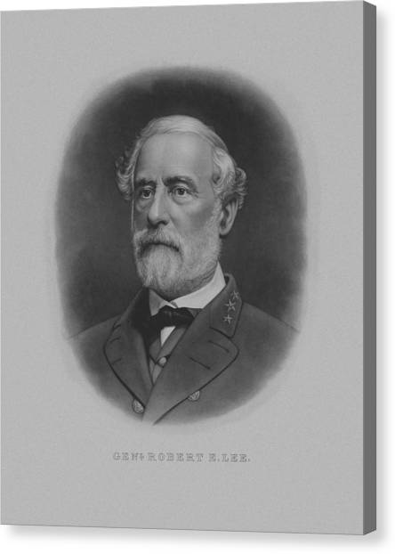 Confederate Army Canvas Print - General Robert E. Lee Print by War Is Hell Store