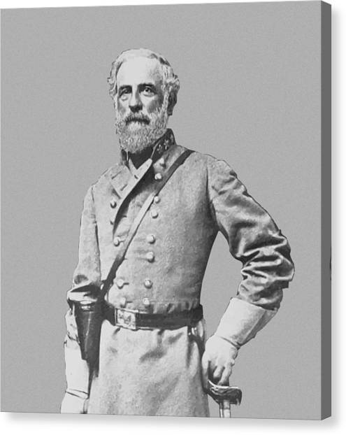 Confederate Canvas Print - General Robert E Lee by War Is Hell Store