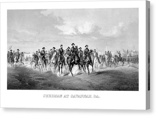 War Horse Canvas Print - General Sherman At Savannah by War Is Hell Store