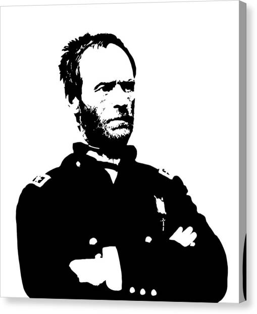 Civil War Canvas Print - General Sherman by War Is Hell Store