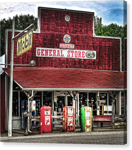 General Store Cataract In. Canvas Print