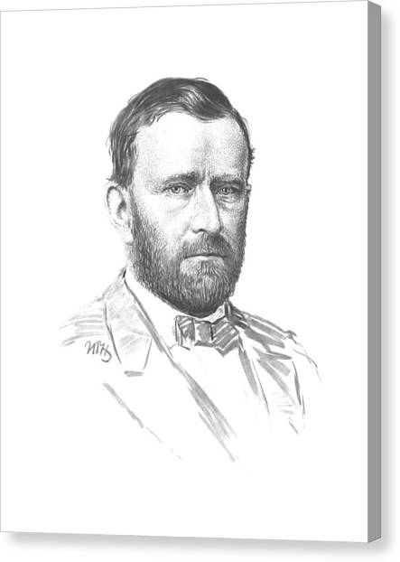 U. S. Presidents Canvas Print - General Ulysses Grant Sketch by War Is Hell Store
