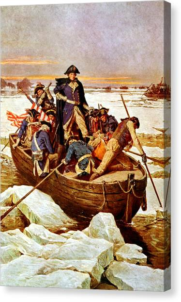 War Horse Canvas Print - General Washington Crossing The Delaware River by War Is Hell Store