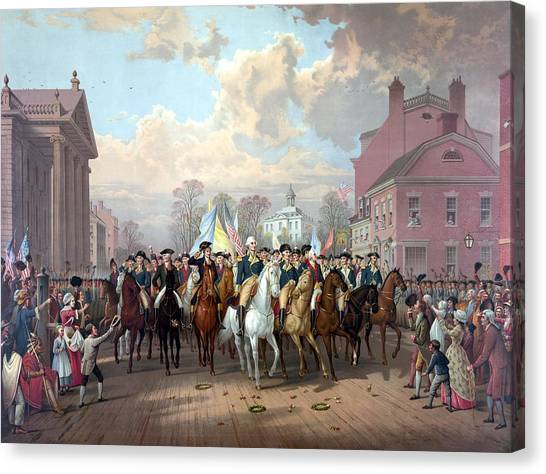 Patriot Canvas Print - General Washington Enters New York by War Is Hell Store