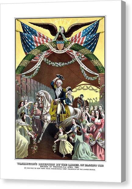 George Washington Canvas Print - General Washington's Reception At Trenton by War Is Hell Store