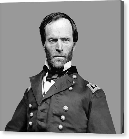 Soldiers Canvas Print - General William Tecumseh Sherman by War Is Hell Store