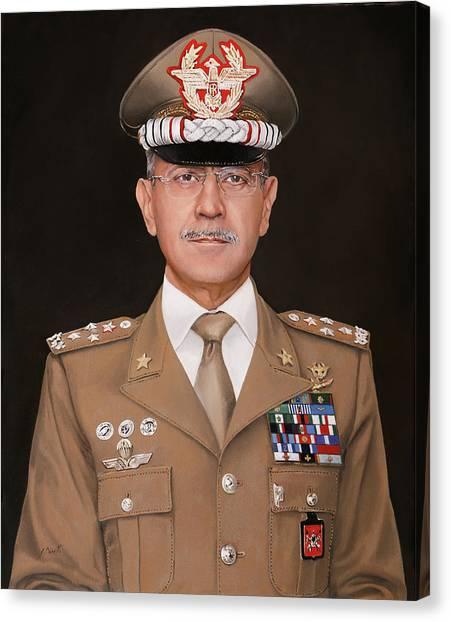 Army Canvas Print - Generale Danilo Errico by Guido Borelli