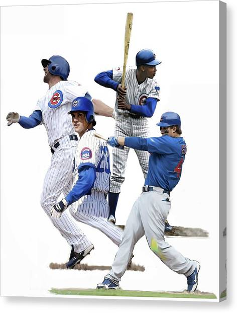 Kansas City Royals Canvas Print - Generations Cubs I  The Chicago Cubs by Iconic Images Art Gallery David Pucciarelli