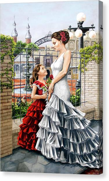 White Flamenco Canvas Print