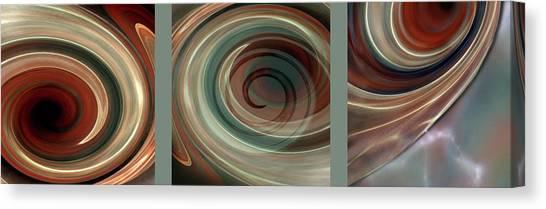Susann Serfezi Canvas Print - Genesis Triptychon by AugenWerk Susann Serfezi