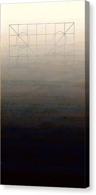 Black 7 White Canvas Print - Genesis Day Seven   Rest by Francois Domain