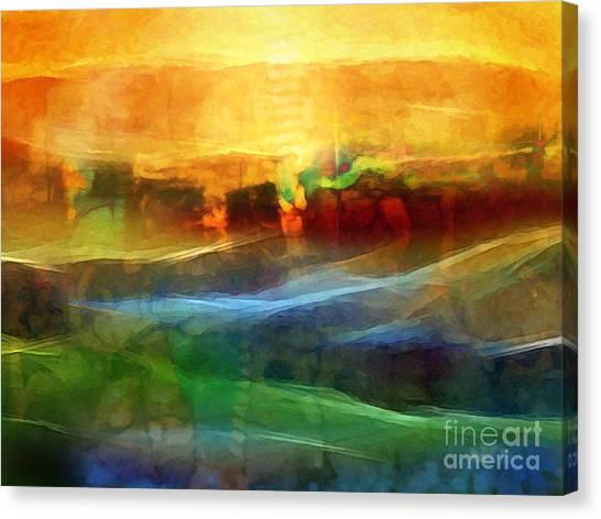 Abstract Digital Canvas Print - Genesis IIi by Lutz Baar