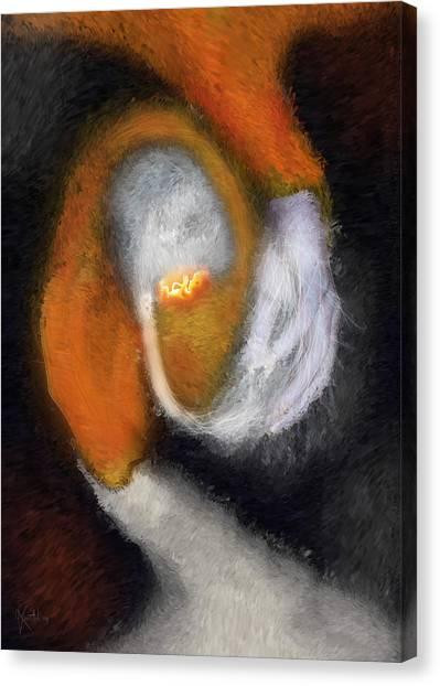 Genesis Of The Elder God Canvas Print by Randhir Rawatlal