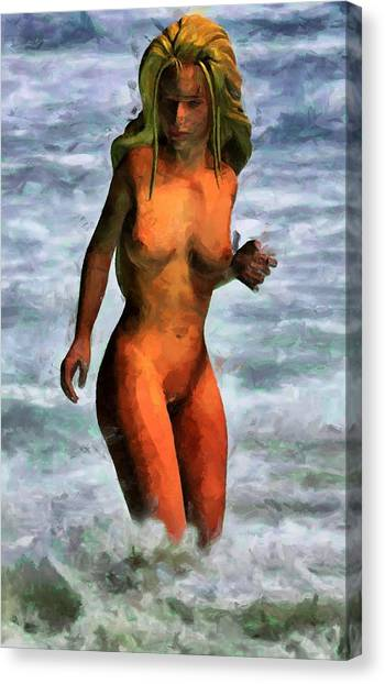 Genie Jumping Waves Canvas Print