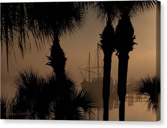 Foggy San Sebastian Sunrise Canvas Print