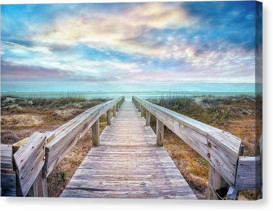 Canvas Print - Gentle Morning Walk by Debra and Dave Vanderlaan