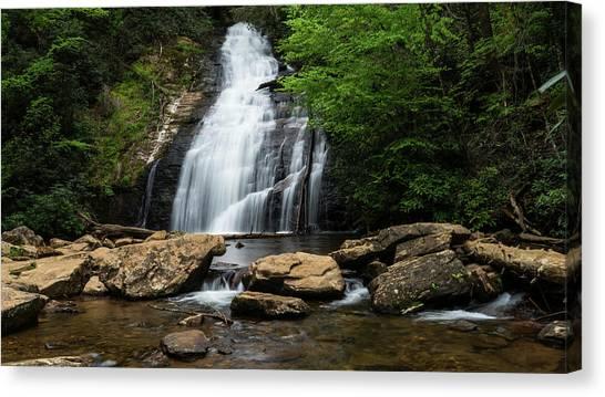 Gentle Waterfall North Georgia Mountains Canvas Print