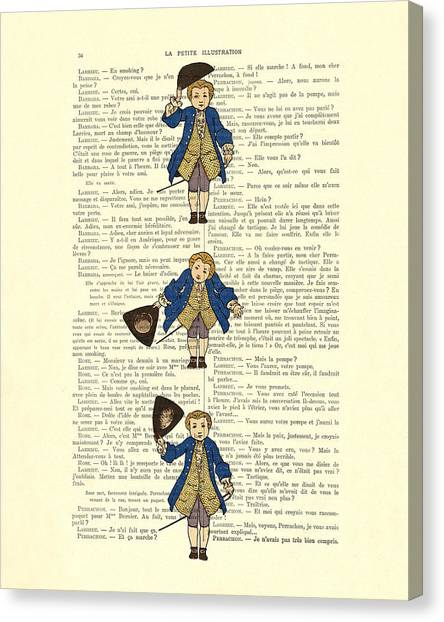 Gent Canvas Print - Gentlemen Taking A Bow Dressed As Napoleon Bonaparte by Madame Memento