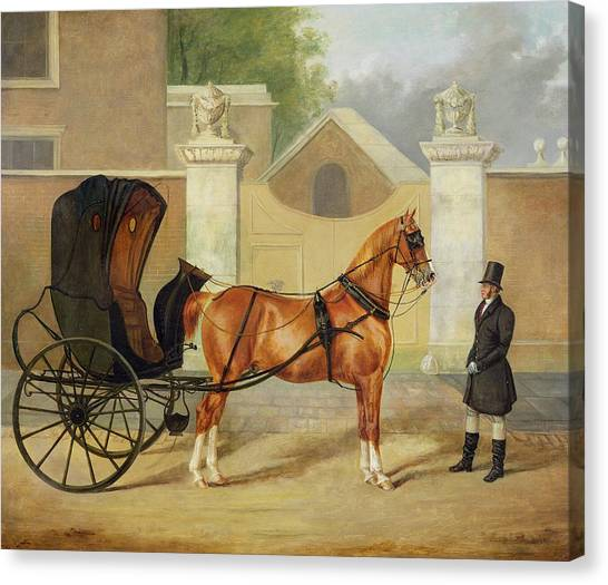 Horse And Carriage Canvas Print - Gentlemen's Carriages - A Cabriolet by Charles Hancock