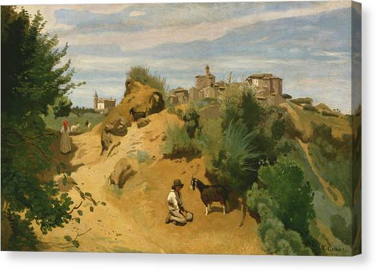Camille Canvas Print - Genzano by Jean-Baptiste-Camille Corot
