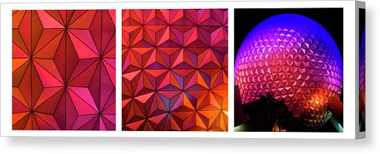 Canvas Print featuring the photograph Geodesic Glow 2 by Christi Kraft