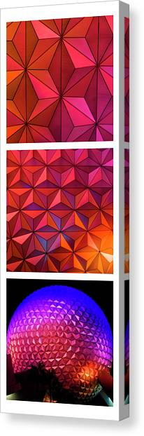 Canvas Print featuring the photograph Geodesic Glow by Christi Kraft