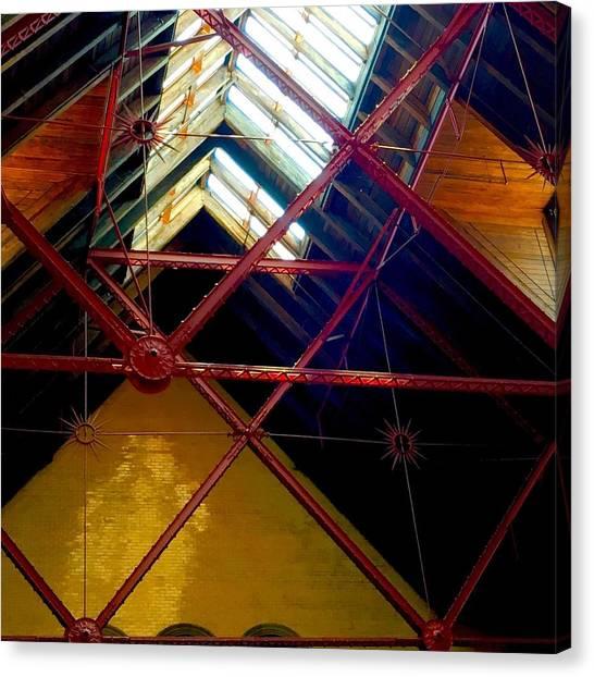 Geometric And Suns  Canvas Print
