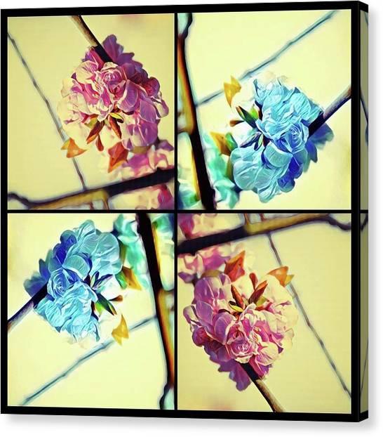 Geometric Blossoms Canvas Print