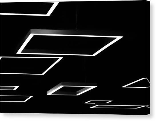 Geometric Light Fixtures At Waukesha State Bank Canvas Print