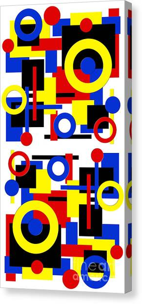 Andee Design Black Canvas Print - Geometric Shapes Abstract V 1 by Andee Design