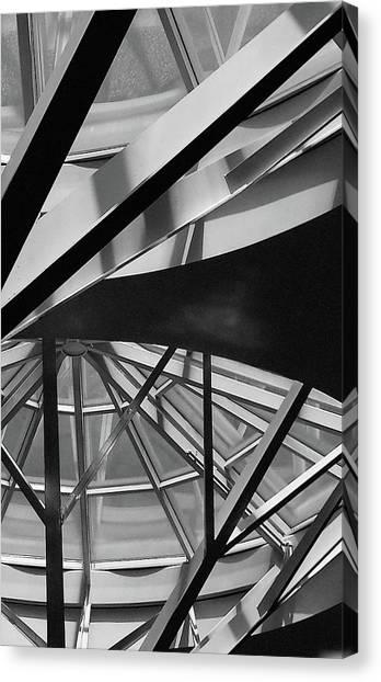 Geometry In Black And White Canvas Print by Winnie Chrzanowski