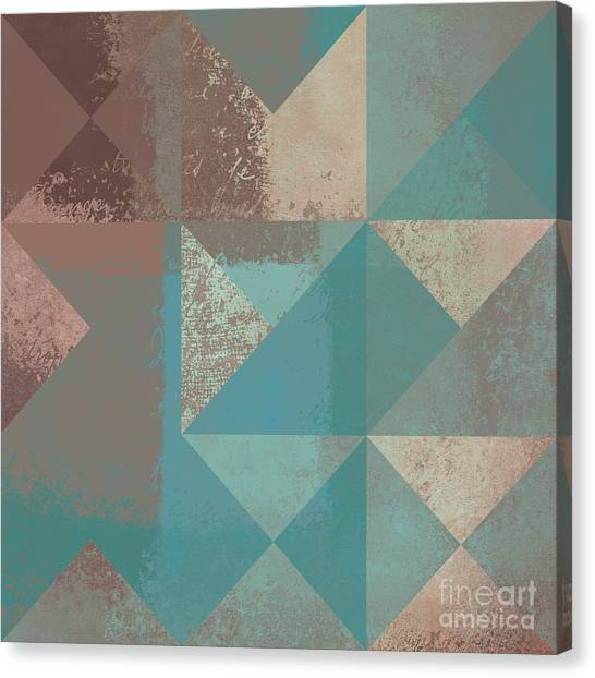 Brown Canvas Print - Geomix 03 - S123bc04t2a by Variance Collections