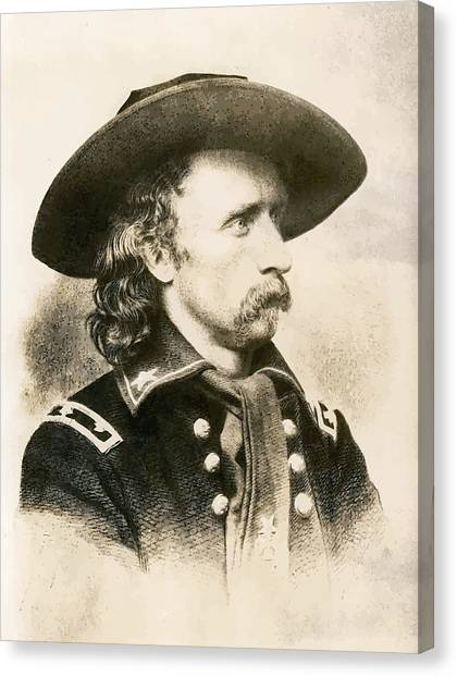 Patriot Canvas Print - George Armstrong Custer  by War Is Hell Store