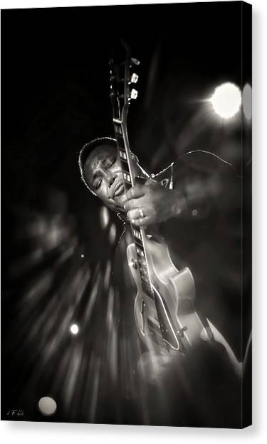 George Benson Black And White Canvas Print