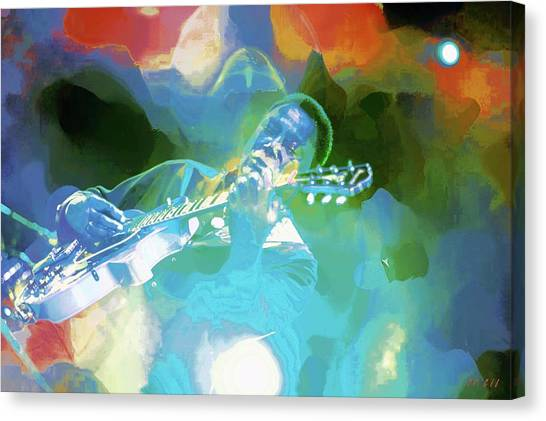 George Benson, Watercolor Canvas Print