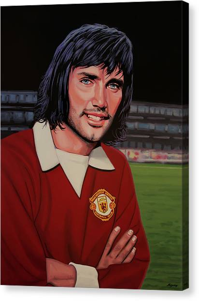 San Jose Earthquakes Canvas Print - George Best Painting by Paul Meijering