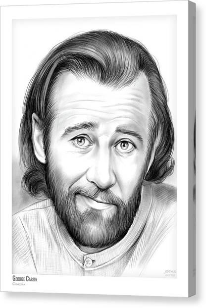 Social Canvas Print - George Carlin by Greg Joens