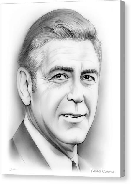 Hollywood Canvas Print - George Clooney by Greg Joens