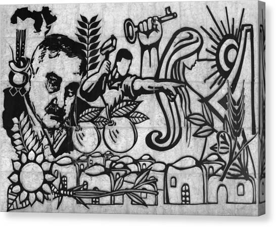 Palestinian Canvas Print - George Habash by Munir Alawi
