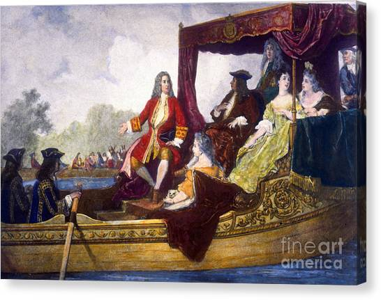 Notable Canvas Print - George Handel And King George I by Science Source