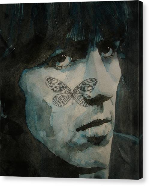 George Harrison Canvas Print - George Harrison @ Butterfly by Paul Lovering